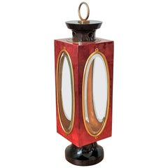 Shades of Red Table Lantern by Aldo Tura, Italy, 1960's