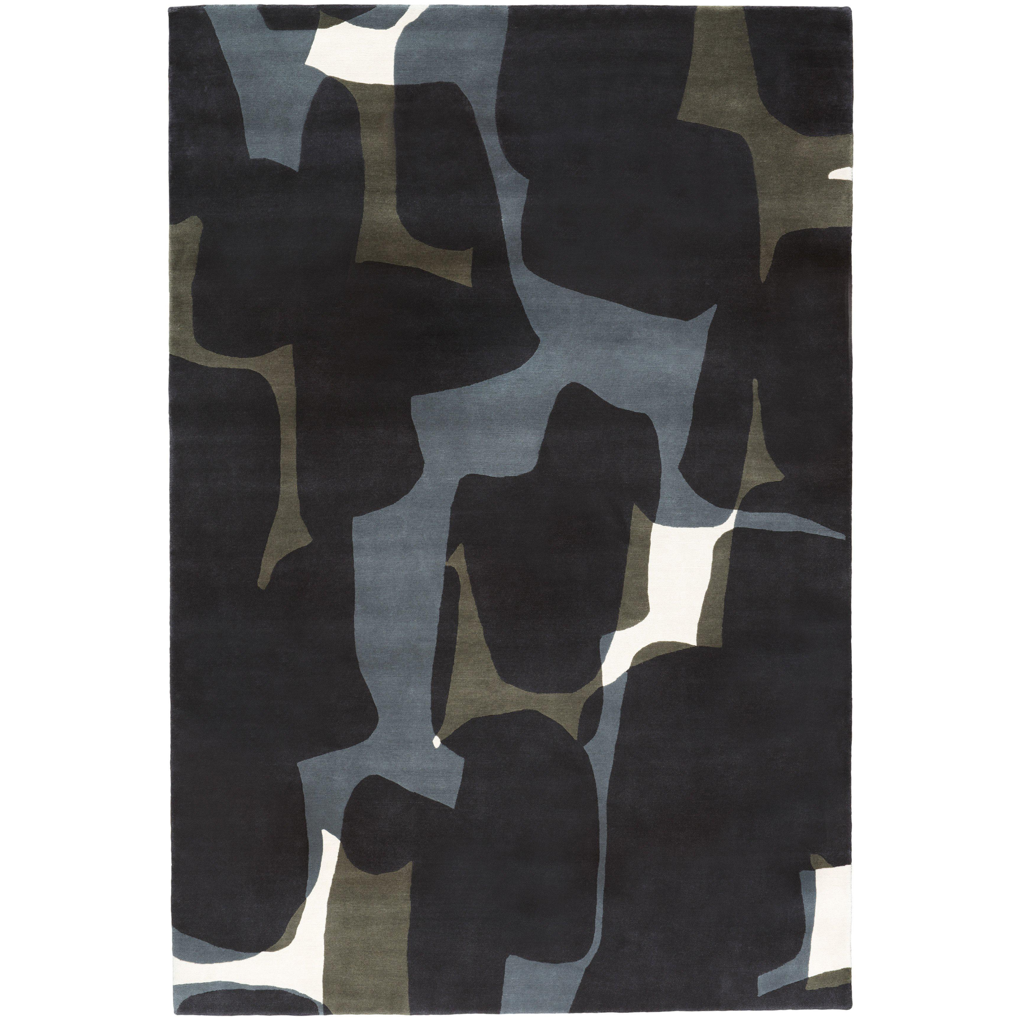 Shadow Hand-Knotted 10x8 Rug in Wool by Alexandra Champalimaud