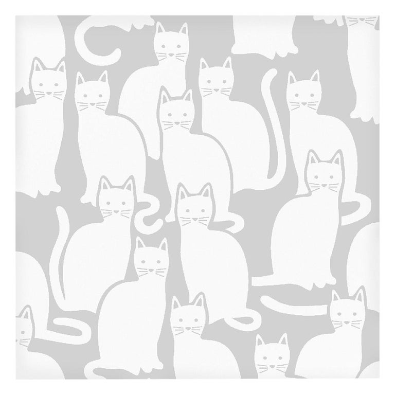 Shadowcat Designer Wallpaper in Heather 'Grey and White' For Sale