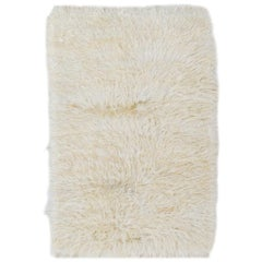 """Shag Pile """"Tulu"""" Rug. Made of Natural Undyed Mohair - Custom Options Available"""