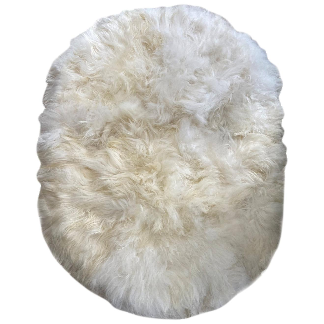 Shaggy Sheepskin Rug, Oval