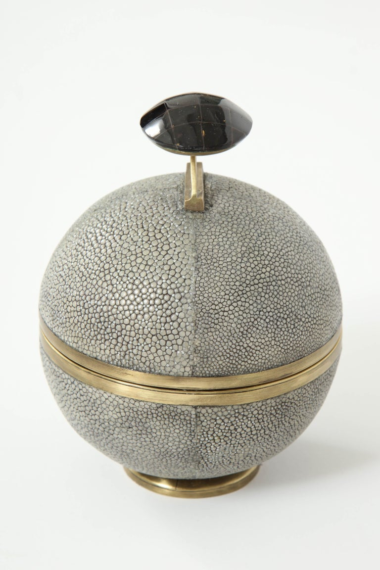 Art Deco Shagreen and Bronze Box, Offered by Area ID For Sale