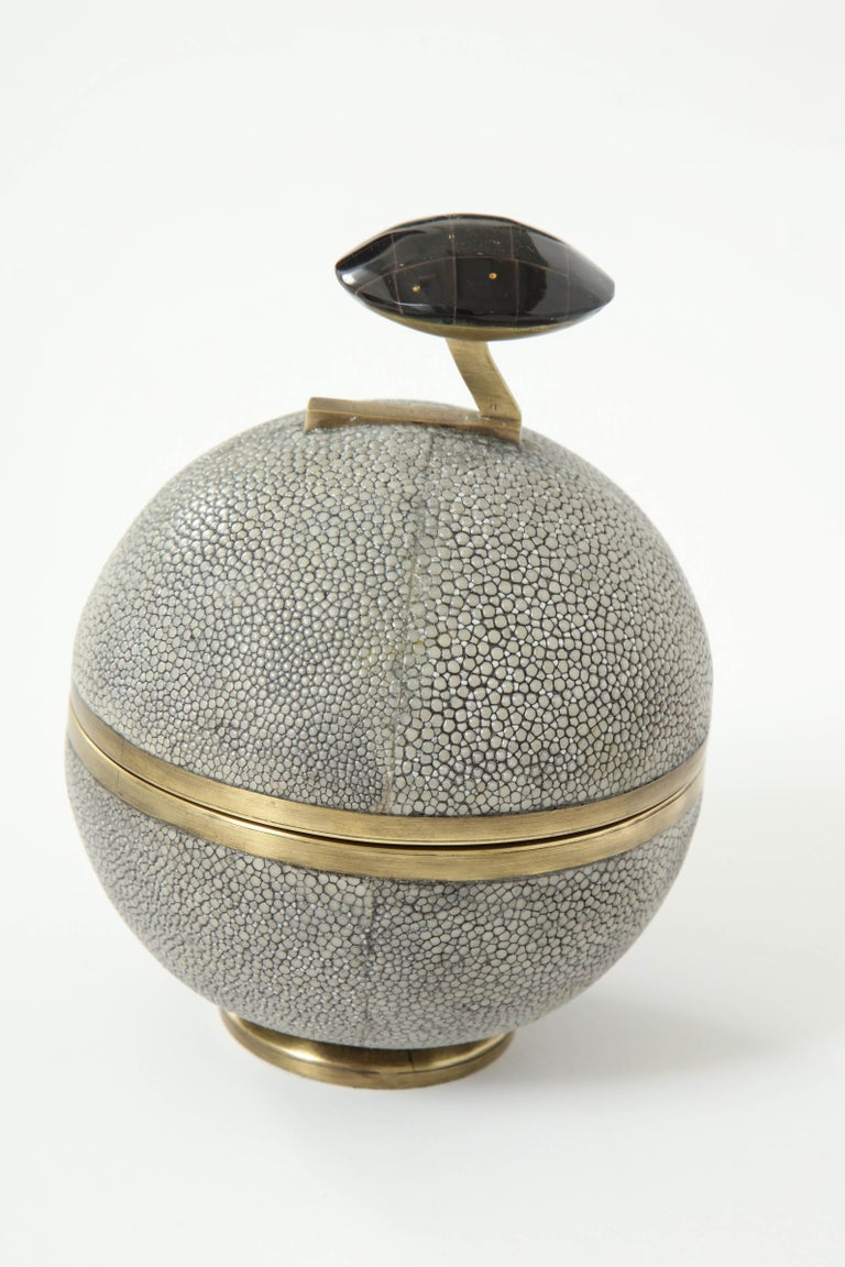 French Shagreen and Bronze Box, Offered by Area ID For Sale