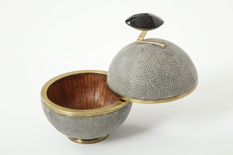 Shagreen and Bronze Box, Offered by Area ID In Excellent Condition For Sale In New York, NY