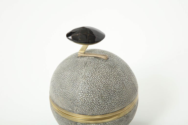 Contemporary Shagreen and Bronze Box, Offered by Area ID For Sale