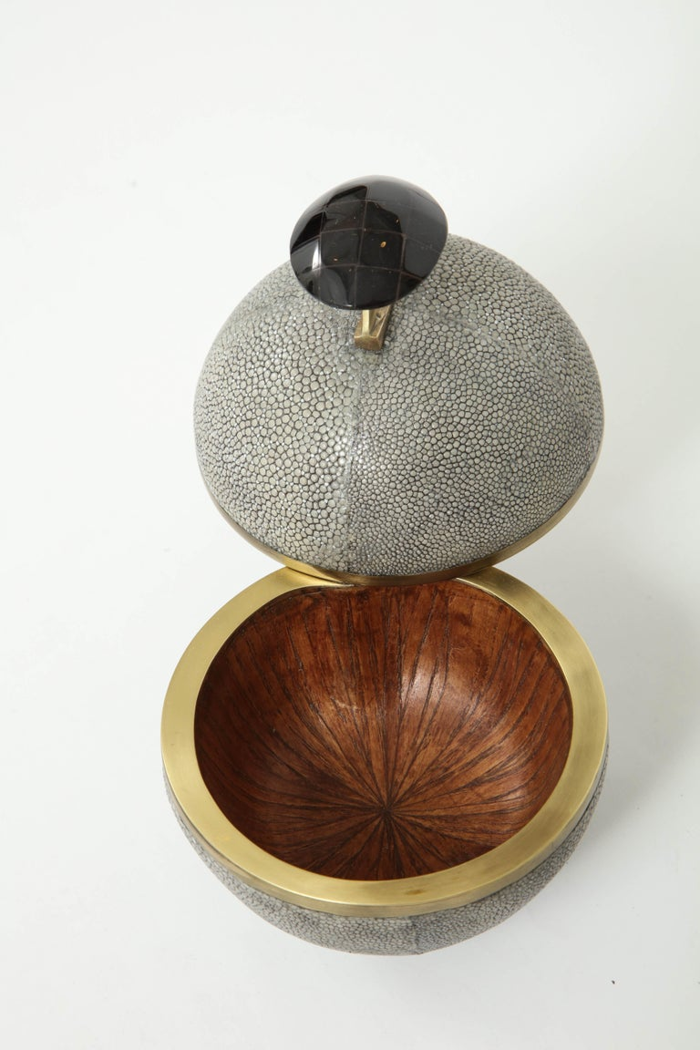 Shagreen and Bronze Box, Offered by Area ID For Sale 1