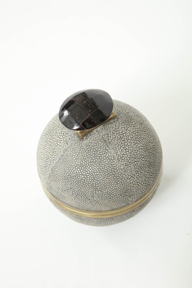 Shagreen and Bronze Box, Offered by Area ID For Sale 2