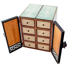 Shagreen and Mother of Pearl Jewelry Chest or Box by R&Y Augousti