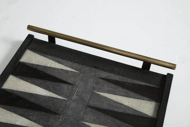 Shagreen Backgammon Game, Offered by Area ID For Sale 3