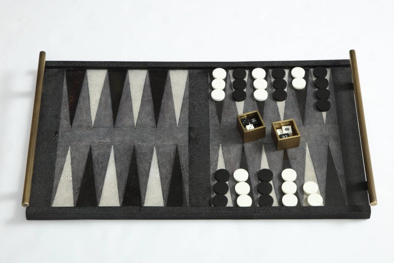 Art Deco Shagreen Backgammon Game, Offered by Area ID For Sale