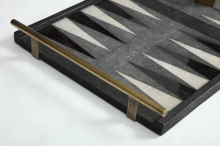 French Shagreen Backgammon Game, Offered by Area ID For Sale