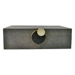 Shagreen Box Circle 'Small' by Ginger Brown