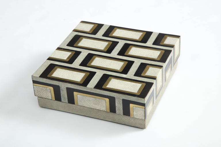 Art Deco Shagreen Box Offered by Area ID For Sale