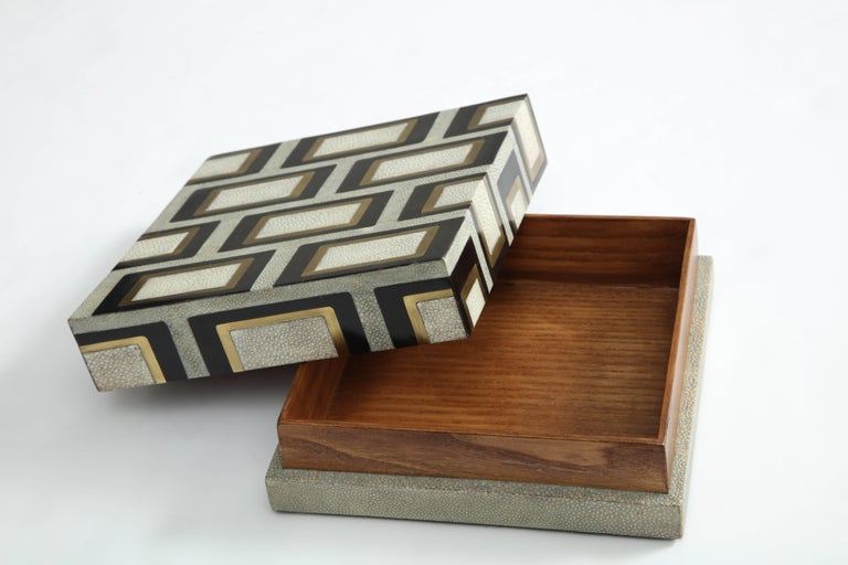 French Shagreen Box Offered by Area ID For Sale