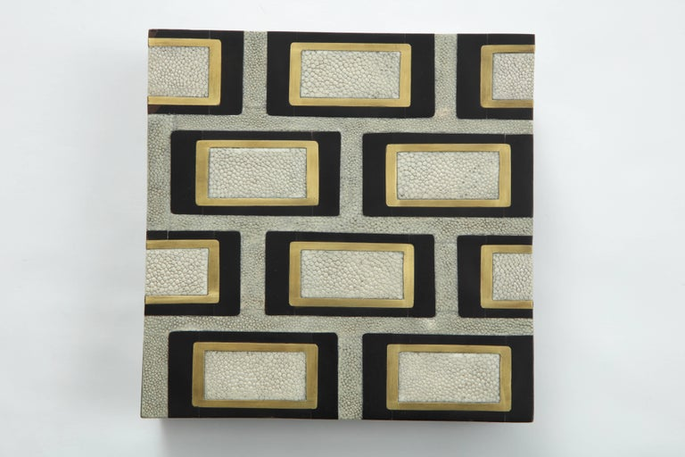 Shagreen Box Offered by Area ID In Excellent Condition For Sale In New York, NY