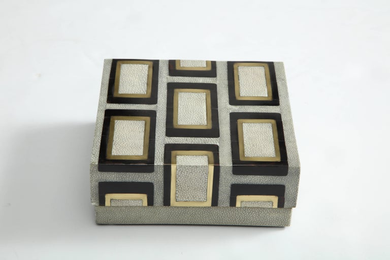 Bronze Shagreen Box Offered by Area ID For Sale