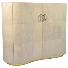 Shagreen Buffet '2 Doors' Bean with a Rock Crystal Top by Ginger Brown