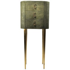 Shagreen Cabinet Stelar with an Organic Shape by Ginger Brown