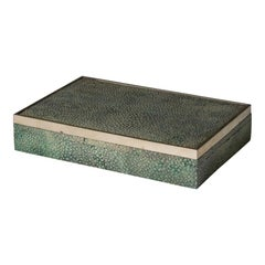 Shagreen Cigarette/Cigar Box With Silver Edging To The Lid, 1930