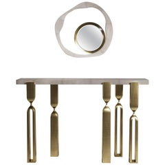 Shagreen Console with Bronze-Patina Brass Accents by Kifu Paris