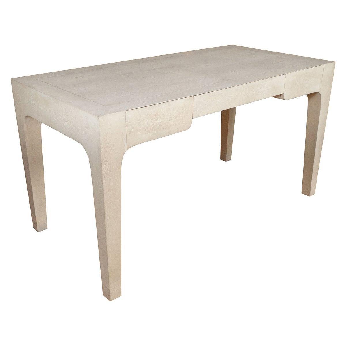 Shagreen Desk by Karl Springer, Signed