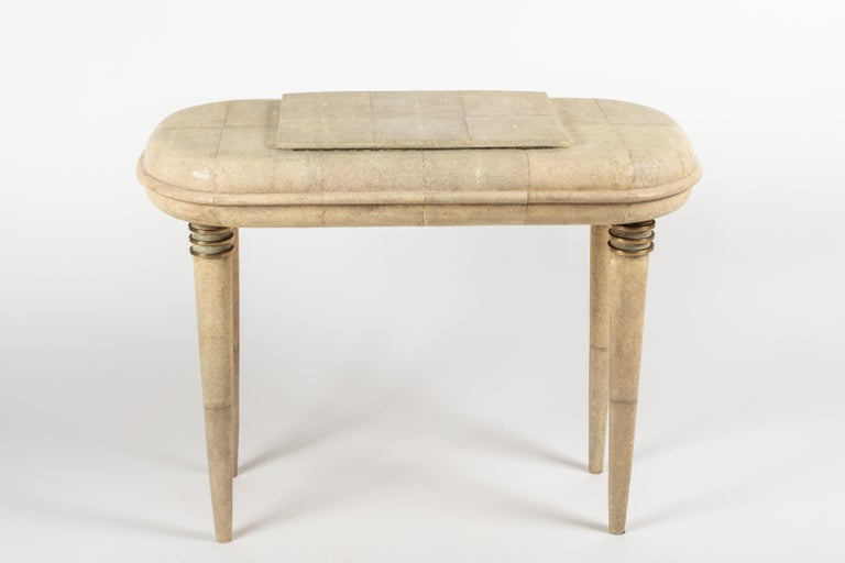 Shagreen Dressing Table and Stool by R&Y Augousti, Paris For Sale 8