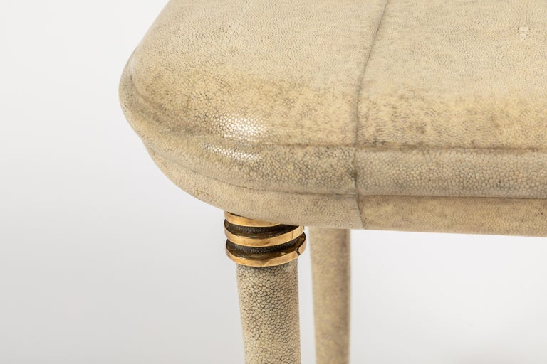 French Shagreen Dressing Table and Stool by R&Y Augousti, Paris For Sale
