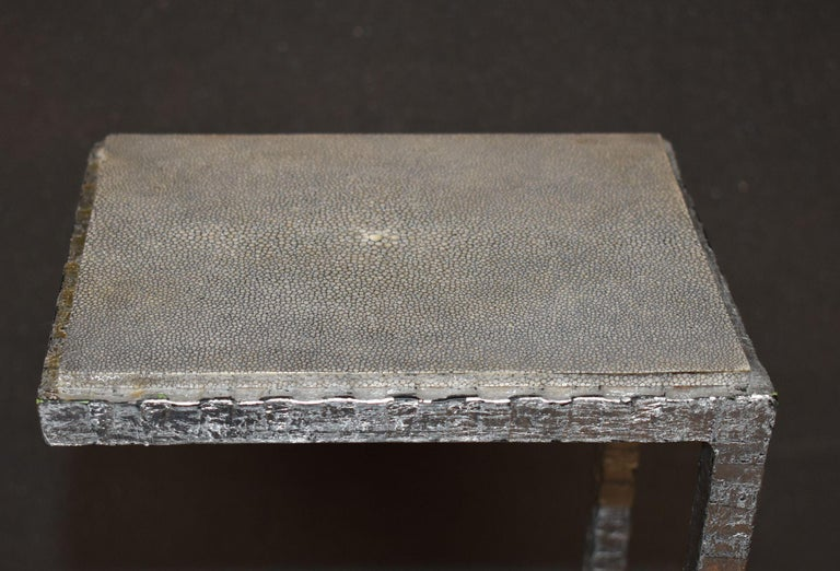 Mid-Century Modern Shagreen Drink Table For Sale