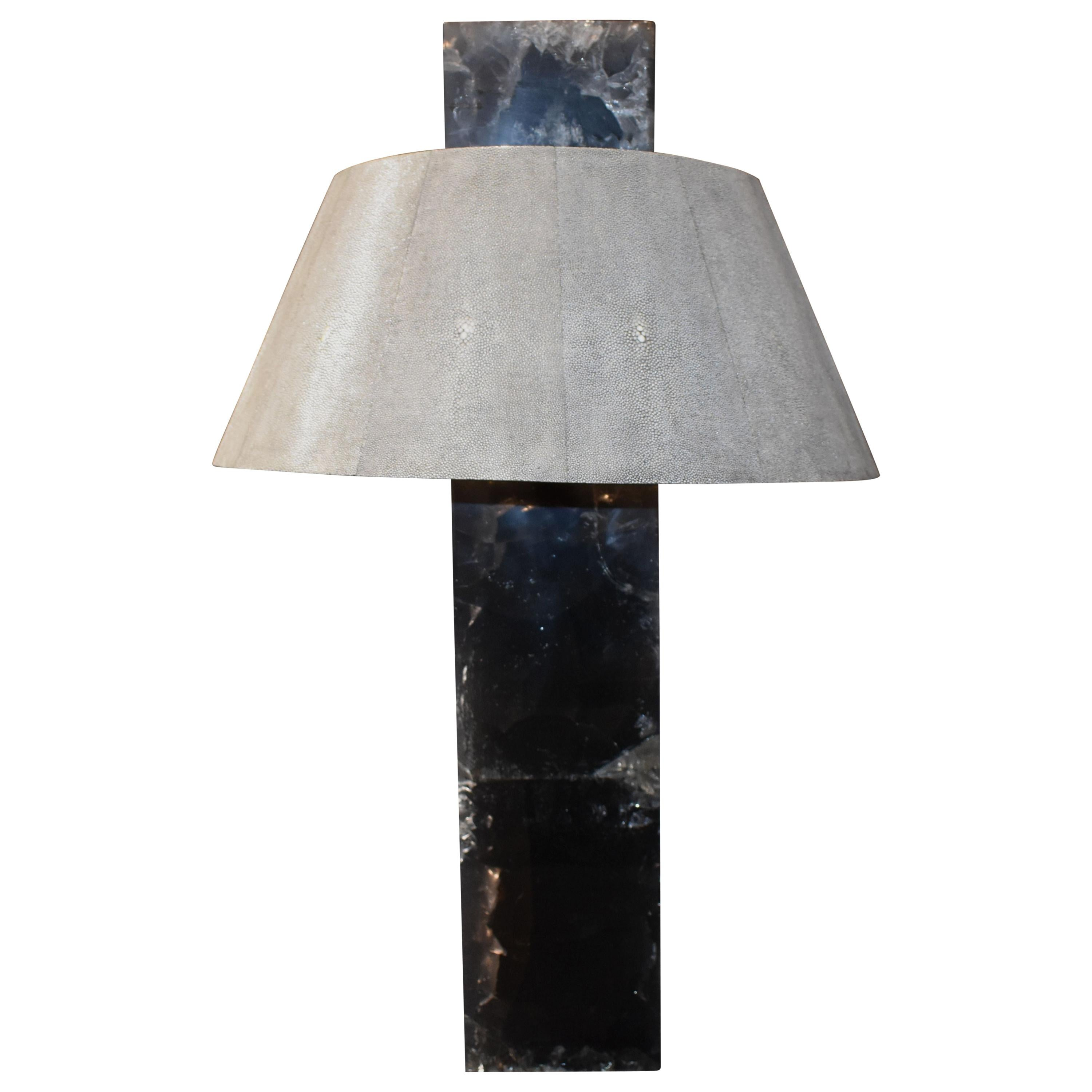 Shagreen Ice Cracked Resin Table Lamp
