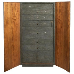 Shagreen Jewelry Cabinet by R&Y Augousti