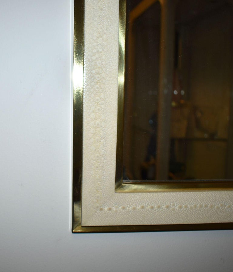 Contemporary Shagreen Mirror For Sale