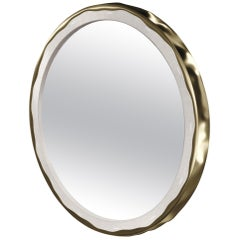 Shagreen Mirror with a Bronze-Patina Brass Frame by R&Y Augousti