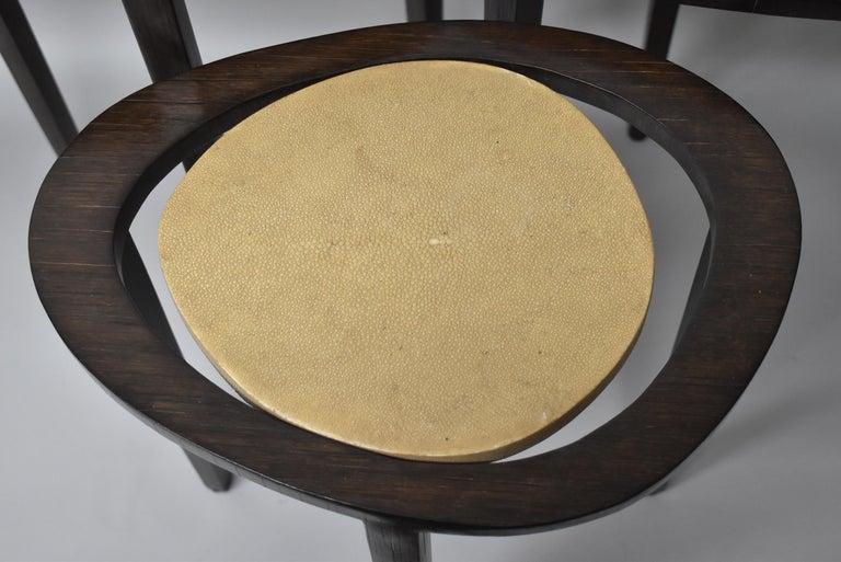 European Shagreen Nesting Tables R&Y Augusti Paris For Sale