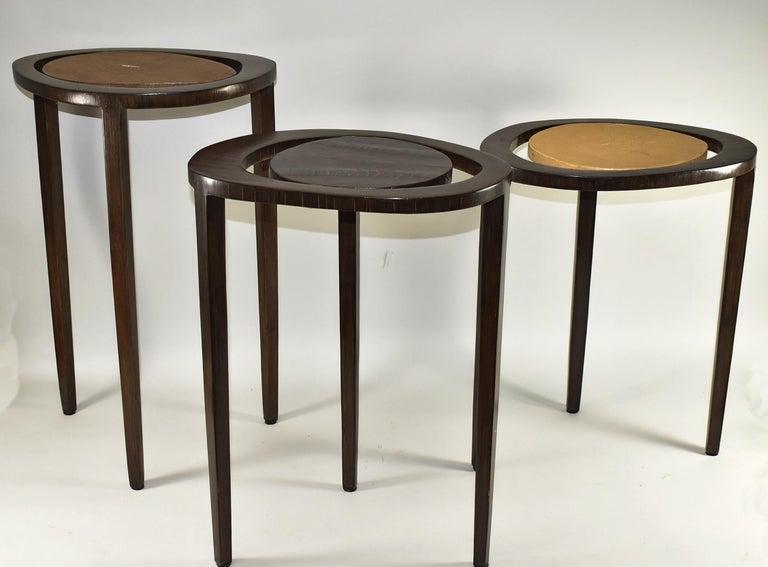 Shagreen Stingray Shagreen Nesting Tables R&Y Augusti Paris For Sale