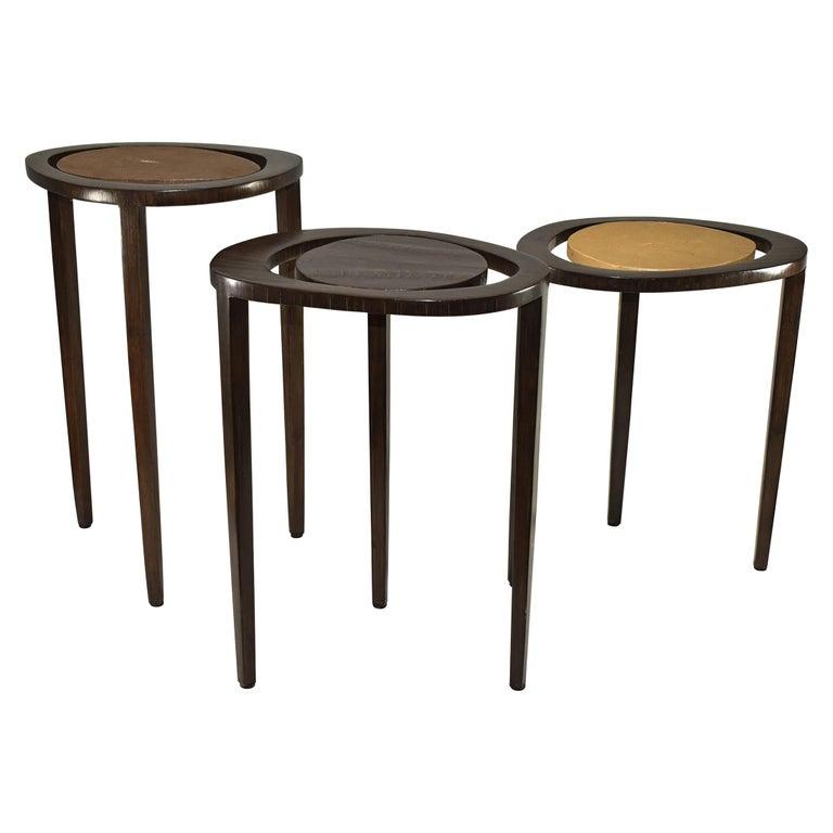 Shagreen Nesting Tables R&Y Augusti Paris For Sale