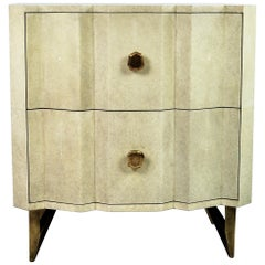 Shagreen Night Stand Table Accordeon by Ginger Brown