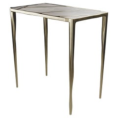 Shagreen Side Table with Bronze-Patina Brass Inlay by R&Y Augousti