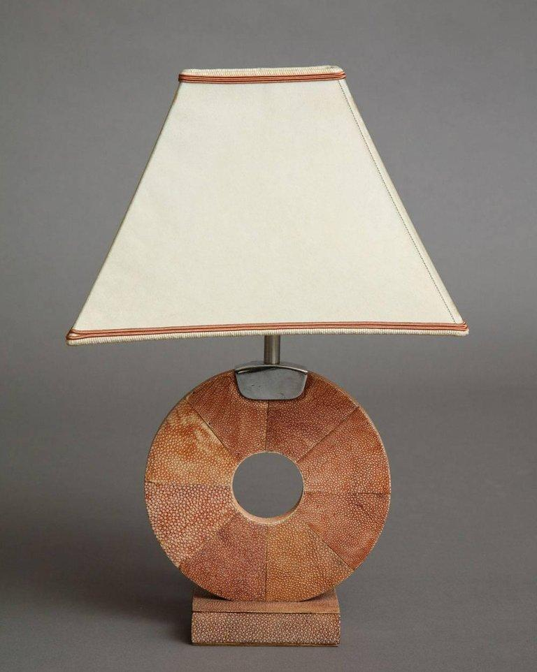 French Shagreen Table Lamp For Sale