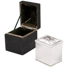 Shagreen Tea Chest Silver Tea Caddy 18th Century
