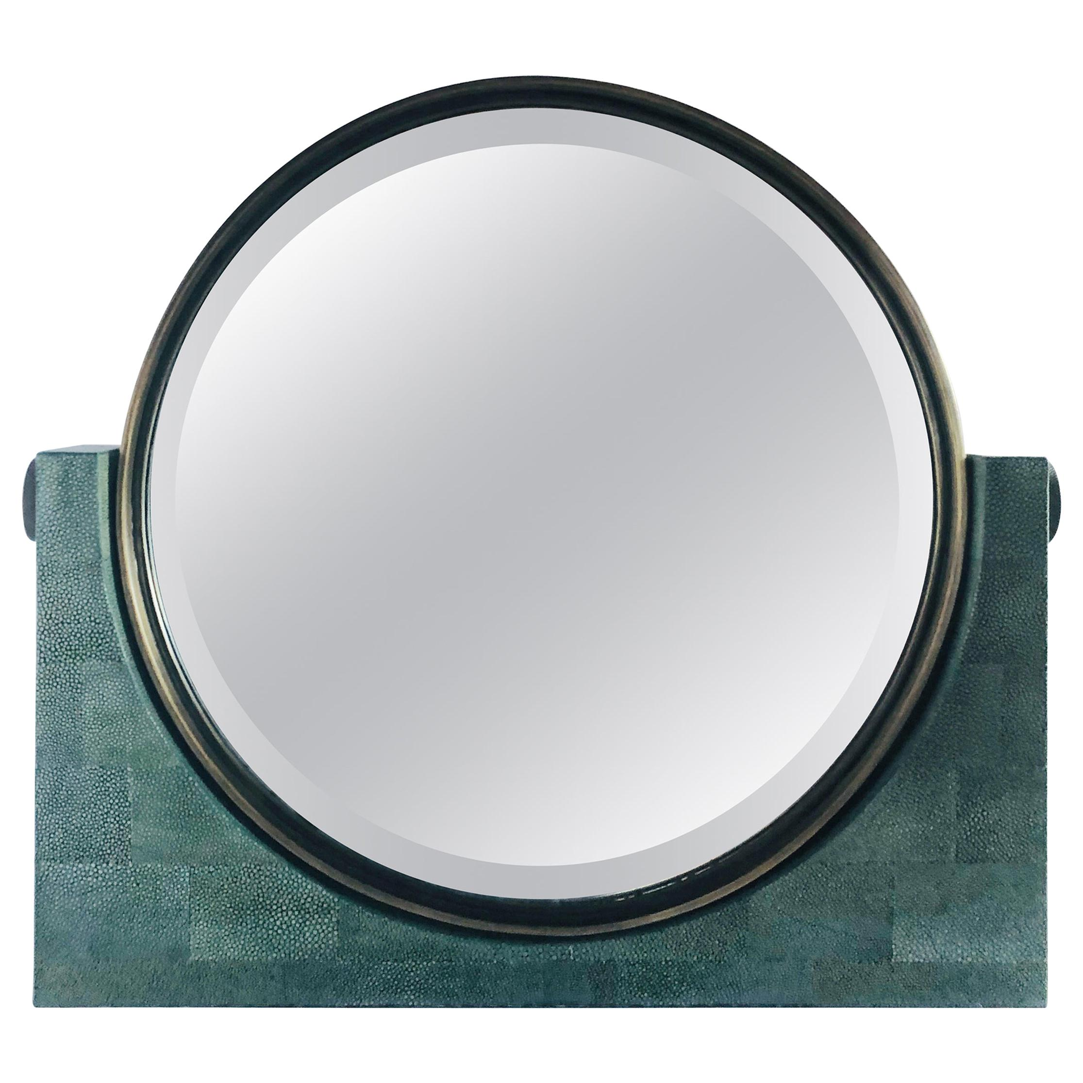 Shagreen Vanity Mirror by Fabio Ltd
