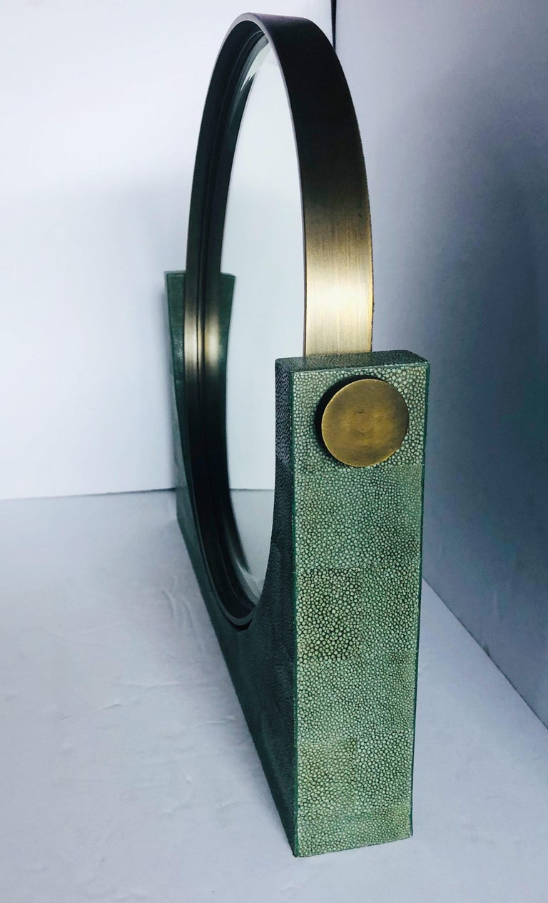 Mid-Century Modern Shagreen Vanity Mirror by Fabio Ltd FINAL CLEARANCE SALE
