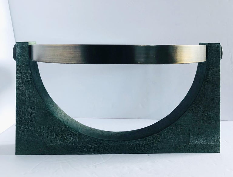Italian Shagreen Vanity Mirror by Fabio Ltd FINAL CLEARANCE SALE