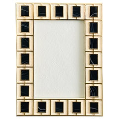 Shagreen with Black Jade Gold-Plated Photo Frame by Fabio Ltd