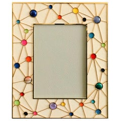 Shagreen with Multi-Color Stones Photo Frame by Fabio Ltd