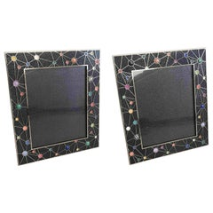Shagreen with Multi-Color Stones Photo Frames by Fabio Ltd