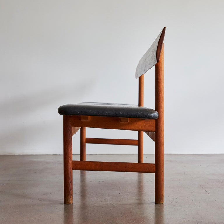 Leather Shaker Bench by Børge Mogensen for Fredericia Stolefabrik For Sale