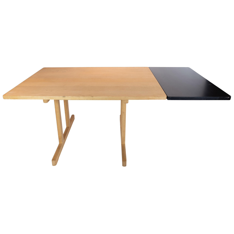 Shaker Dining Table, Model C18, of Soap Treated Oak by Børge Mogensen