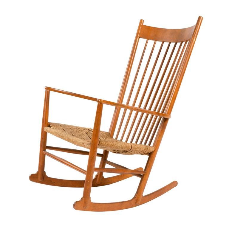 1970s Danish Shaker Rocking Chair by Hans J. Wegner For Sale