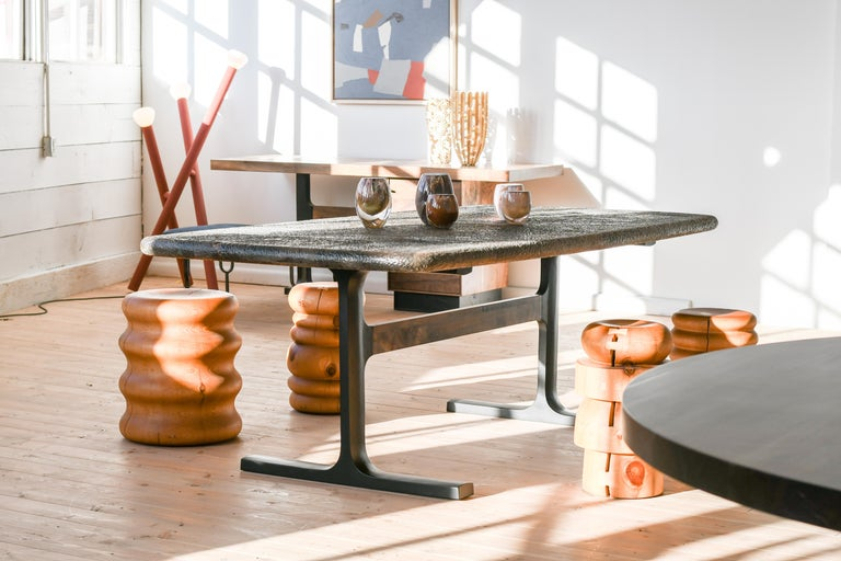 Bronze shaker table from Jeff Martin Joinery.