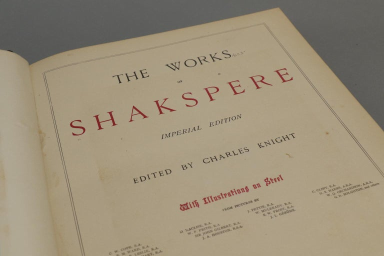 Leather Shakespeare's The Works, Edited by Charles Knight For Sale